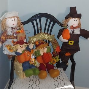 4 pc harvest/fall/thanksgiving decor set